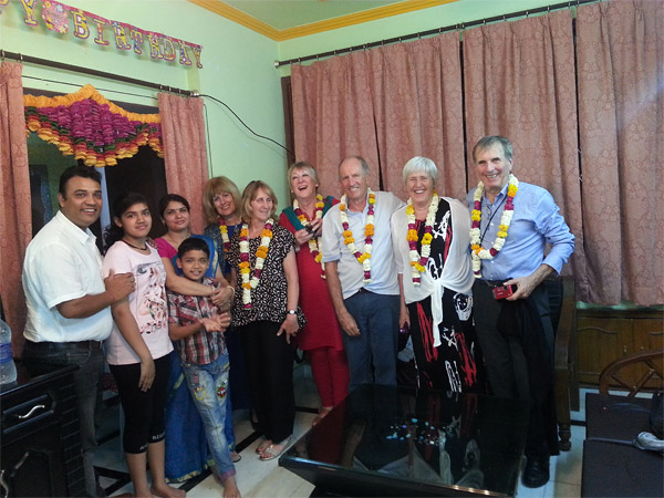 British Group with Deepak & Family