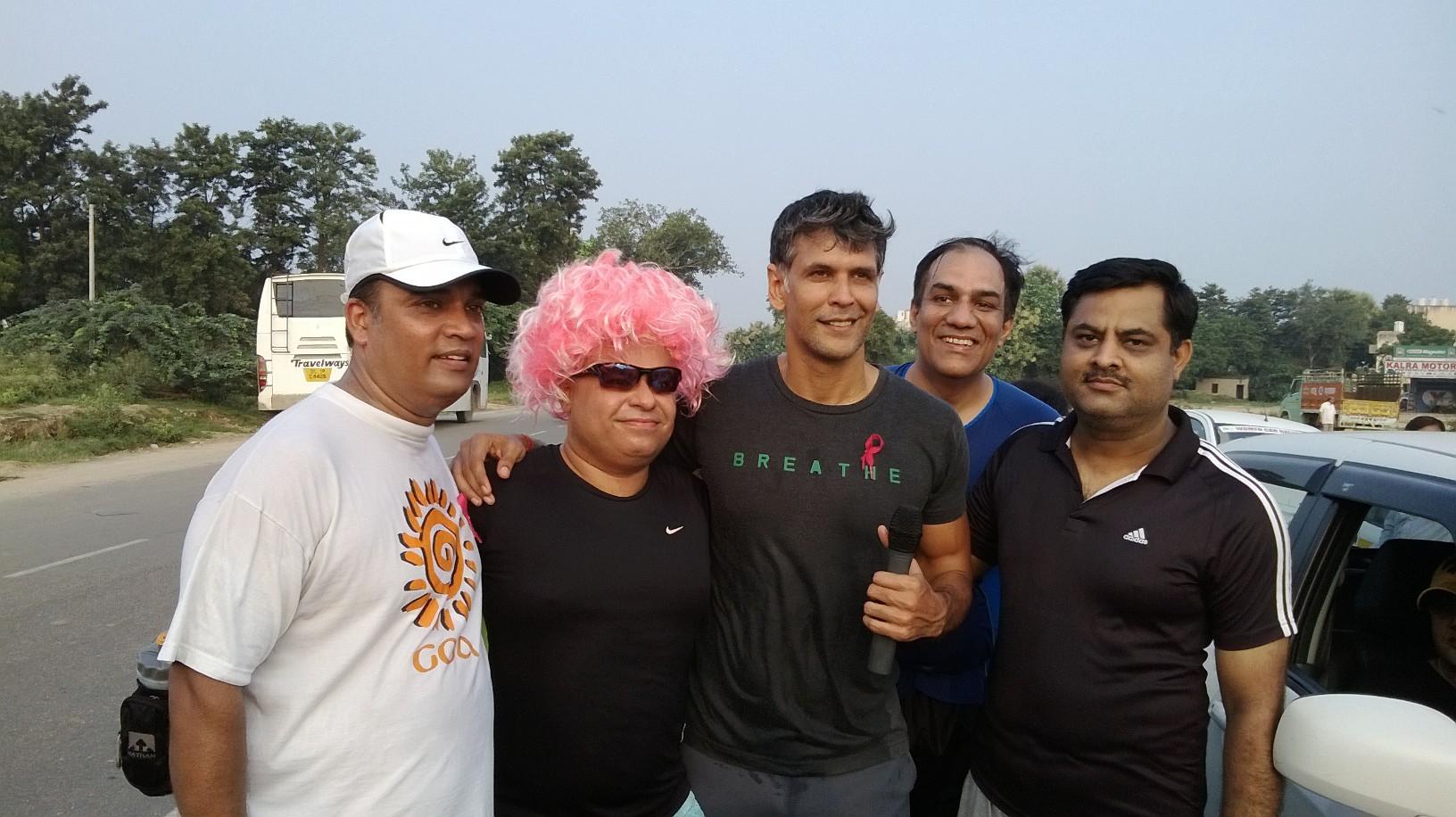 Deepak at Pinkathon