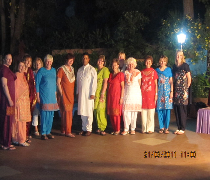 Deepak with British Ladies